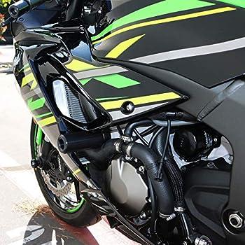 Shogun Kawasaki Ninja ZX6R ZX-6R ZX 636 2019 2020 NO Cut Black Frame Sliders Fits ABS & NON ABS - 750-4459 - MADE IN THE USA