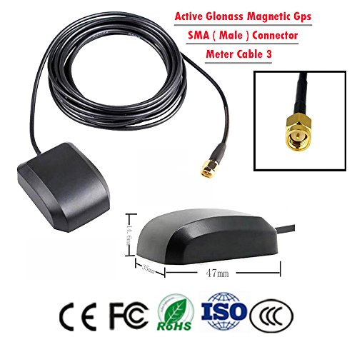 Gps Antenna, Active Glonass Gps Antenna Magnetic Mount , GPS Antenna for (Universal Pcb Mounting System)