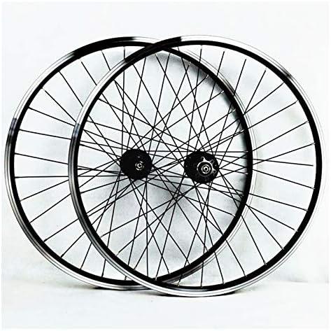 Bike Wheelset ホイールセット26インチのマウンテンバイクダブルウォールアルミ合金ディスク/ V-ブレーキサイクリング自転車ホイールフロント2リア4ペイリン32ホール7-11スピードフリーホイール (Color : B)