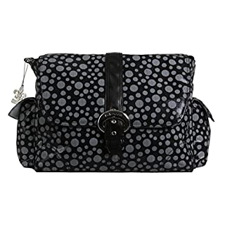 Kalencom Buckle Bag, Bubbles Black