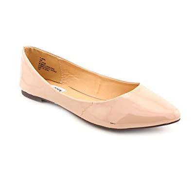 1afe28502bd1 Steve Madden Angel Womens Beige Patent Leather Flats Shoes Size   Amazon.co.uk  Shoes   Bags