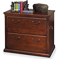 Martin Furniture Huntington Oxford 2-Drawer Lateral File Cabinet, Burnish Finish, Fully Assembled