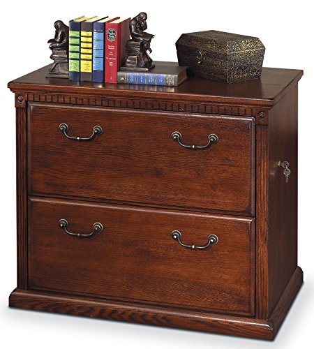 Kathy ireland Home by Martin Huntington Oxford 2 Drawer Lateral File Cabinet, Burnish - Fully Assembled