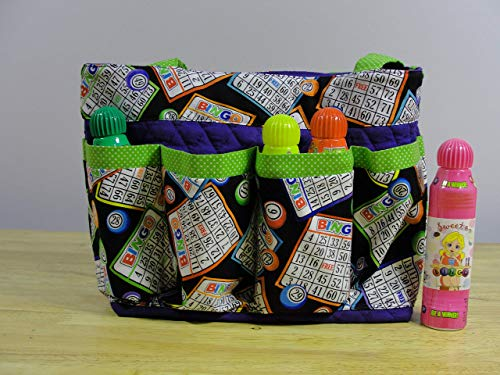 Bingo Handmade Fabric Purse Bag Tote Craft Organizer Teacher Tote Nurse Tote from Bonnie Adcox Creations