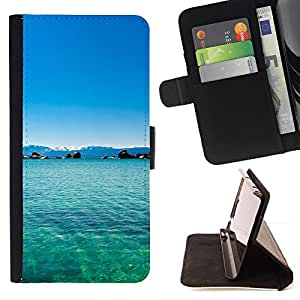 Jordan Colourful Shop - Philippines Dream Blue Lagoon Paradise For Samsung Galaxy S6 EDGE - < Leather Case Absorci????n cubierta de la caja de alto impacto > -