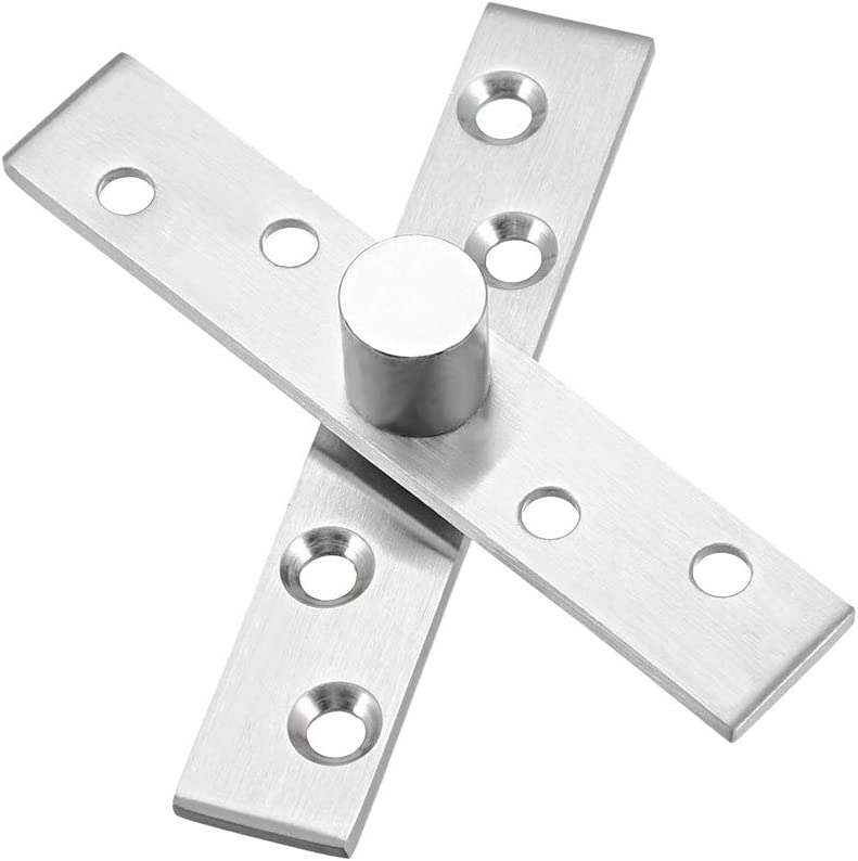 uxcell 8 Sets Stainless Steel 360 Degree Rotating Door Pivot Hinge 57mm x 16mm