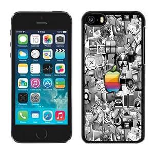 Fashion Custom Designed Cover Case For iPhone 5C Colorful Apple Black Phone Case