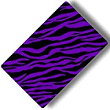 Custom & Decorative {16'' x 10'' Inch} 1 Single, Large ''Gaming'' Flexible Non-Slip Mousepad for Gaming, Made Of Easy-Glide Neoprene w/ Neon Cartoon Zebra Animal Print Girly [Purple & Black]