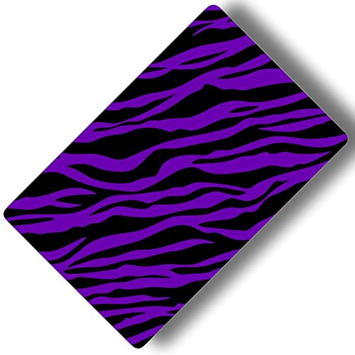 Custom & Decorative {16'' x 10'' Inch} 1 Single, Large ''Gaming'' Flexible Non-Slip Mousepad for Gaming, Made Of Easy-Glide Neoprene w/ Neon Cartoon Zebra Animal Print Girly [Purple & Black] by mySimple Products
