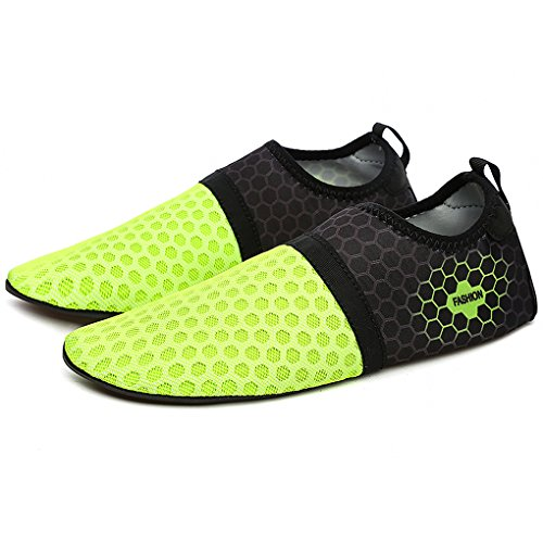 and Quick Skin Water Beach Drying Ultralight Shoes Aqua Summer Mesh Shoes Shoes Men Green Breathable Slip Women Hishoes Anti Barefoot I1qT05wq