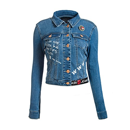ASK JEANS Jacket printed patches