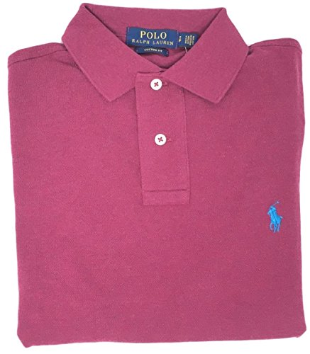 Polo Ralph Lauren Men Custom Fit Mesh Pony Logo Shirt (M, - Polo La Ralph