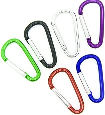 [해외]100pcs Aluminum Carabiner Clip Key Chain Key Ring 1-78 (Assorted Color) by OnDepot / 100pcs Aluminum Carabiner Clip Key Chain Key Ring 1-78 (Assorted Color) by OnDepot