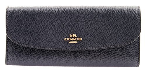 Coach Crossgrain Leather Soft Wallet IM/MID Midnight