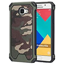MOONCASE Galaxy A5 2016 Case, Camouflage [Shock Absorption] Durable Hybrid Dual Layer 2 in 1 Anti-Slip TPU Case Cover for Samsung Galaxy A5 (2016) A510F Green
