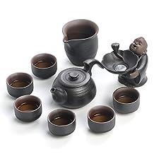 Japanese-style Black Sea Kung-Fu Zen rhyme tea set teapot tea cup tea set tea set luxury gift box