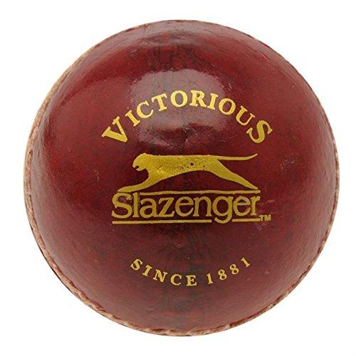 Slazenger Balle ligue de cricket en cuir tanné végétal à centre en liège moulé