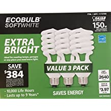 Feit Electric EcoBulb Soft White 33W Extra Bright 150W Equivalent Compact Fluorescent Light Bulb CFL 3 Pack