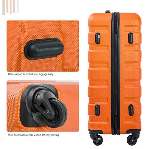 Merax Luggage Set 3 Piece Lightweight Spinner Suitcase (Orange) by Merax (Image #6)
