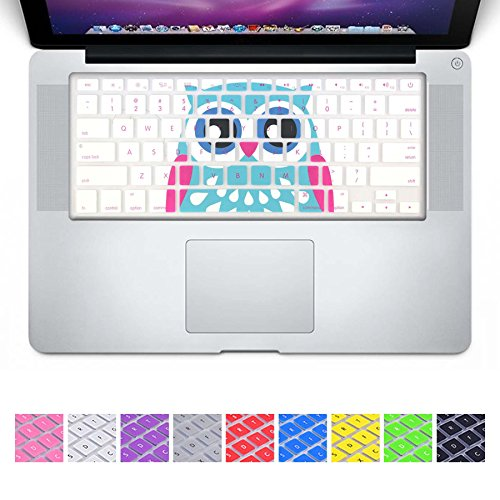 DHZ Blue Owl Keyboard Cover Silicone Skin for 2015 or Older Version MacBook Air 13 MacBook Pro 13 15 inch (No Fit for 2018 MacBook air 13 or 2017/2016 Released New MacBook Pro 13 15)