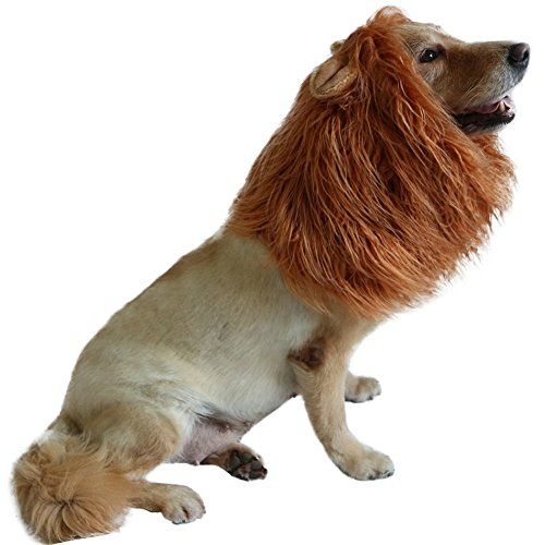 Costume Great Dane Lion (Lion Mane For Dog,Lion Wig for Pets,Halloween Costume for Pets Festival Party Fancy Hair Dog Clothes with Ears,Lion Wig with)