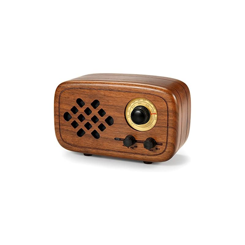 Rerii Handmade Walnut Wood Portable Blue