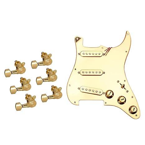 SM SunniMix 1x Pickguard de Guitarra 6x Clavija de Afinación Gear ...