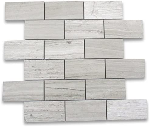 Stone Center Online Athens Silver Cream Marble 2x4 Grand Brick Subway Mosaic Tile Polished For Kitchen Backsplash Bathroom Flooring Shower Surround Dining Room Entryway Corrido Spa 1 Sheet Amazon Com