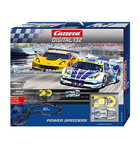 Carrera Digital 132 Power Speeders Slot Car Race Track Set 30182