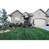 Mega Spider Web Outdoor Halloween Decoration - Terrify Your Neighbors - By FunWorld
