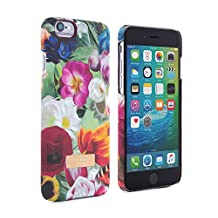 Official TED BAKER® SS16 iPhone 6 PLUS / 6S PLUS Case – Hard Shell Back Case / Cover in Flower Design for Women / Girls, Protective Snap on Back Case for Apple iPhone 6S PLUS - Floral Swirl