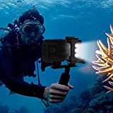 eecoo Diving Light High Power Dimmable Waterproof LED Video Light Fill Night Light Diving Underwater Light Waterproof 98.4ft (30m) for Action Camera