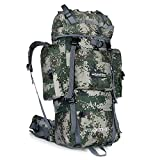 Tofern Multifunctional Unisex 55L Outdoor Waterproof Anti-wear Durable Hiking Daypack Camping Backpack Travel Trekking Mountaineer Rucksacks School Bag, 3 colors