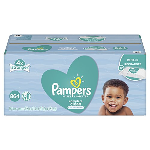Pampers Baby Wipes Complete Clean SCENTED 12X Refill Packs, 864 Count