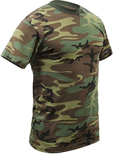 Military Style Woodland Camouflage Tactical T-Shirt
