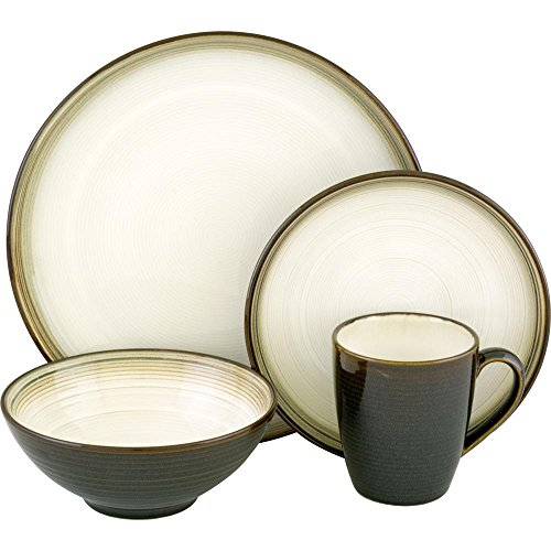 SANGO Jetta Black 16 pc. Dinnerware Set