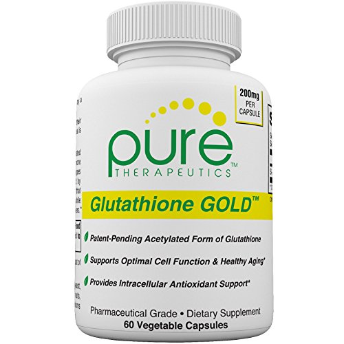 S-Acetyl Glutathione GOLD - 60 Vegetable Capsules (2 Month Supply) 200mg of S-Acetyl-Glutathione *PER CAPSULE* Efficient Once a Day Dosage | Patent-Pending, Acetylated Form of Glutathione | Supports Natural Antioxidant Activity | Free of Magnesium Stearat