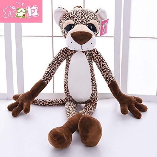 DONGER Dschungel Puppe Puppe Puppe Cartoon Giraffe Lion Tiger Leopard Puppe Spielzeug Geburtstagsgeschenk Mädchen, Leopard, 80Cm 48cdc0