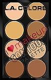 L.A. Colors I Heart Makeup Contour Palette, Light to Medium, 0.26 Ounce
