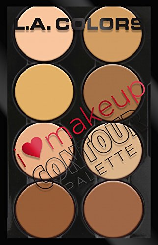 L.A. Colors I Heart Makeup Contour Palette, Light to Medium, 1.04 Ounce ()