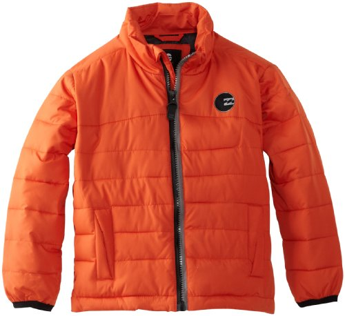 Billabong Little Boys' All Day Puff Jacket, Neo Orange, 3T ()