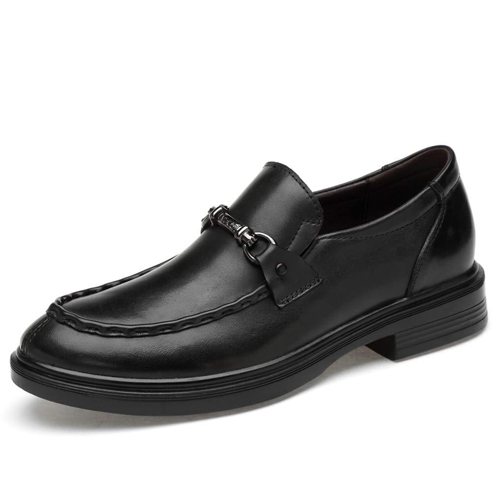 Schwarz Meipa-Zeit Herrenmode Oxford Freizeit Bequeme und Bequeme Metallprau ;geformale Schuhe (konventionell optional) Elegante Bequeme Schuhe