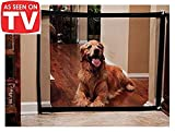 Magic Gate for Dogs – Portable Folding Mesh Screen Gate – for House Indoor Use – Dog Safe Guard Install Anywhere – As Seen On TV
