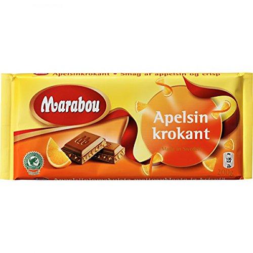 Marabou Apelsin Krokant Original Swedish Milk Chocolate Apelsinkrokant Bar 200g. By Kraft Foods. by Marabou