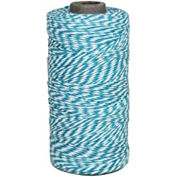 Dress My Cupcake Baker's Twine String Roll for Gifts and Favors, 240-Yard, Aqua