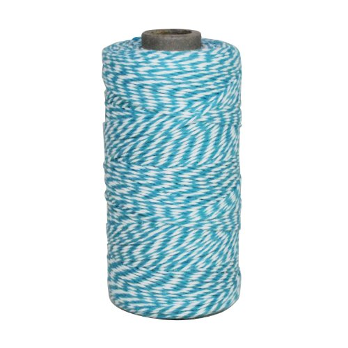 er's Twine String Roll for Gifts and Favors, 240-Yard, Aqua (Baker Striped Tie)