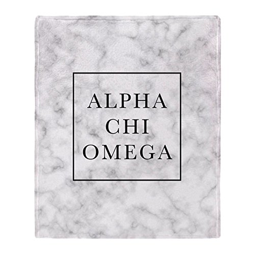 CafePress - Alpha Chi Omega Marble FB - Soft Fleece Throw Blanket, 50
