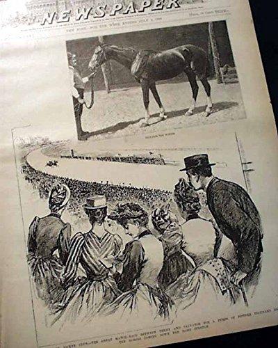 Prints from 1890 - Coney Island Jockey Club - Salvator Wins - Alaska, Yale-Princeton Baseball, Chesapeake & Ohio Railway- FRANK LESLIE'S ()