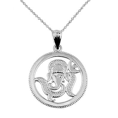 Amazon Com Elegant Sterling Silver Lord Ganesha Charm Pendant