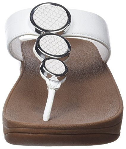 FitFlop Halo Toe Post Sandals Blanco (White 194)